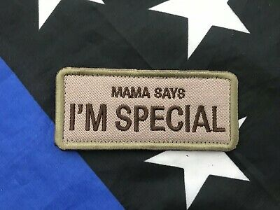 MAMA SAYS I'M SPECIAL Funny Military Tactical Embroider Velcro Morale Patch