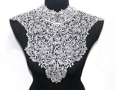 Embroidered Lace Collar Venise Floral Neckline Neck Trim Sewing Applique Clothes