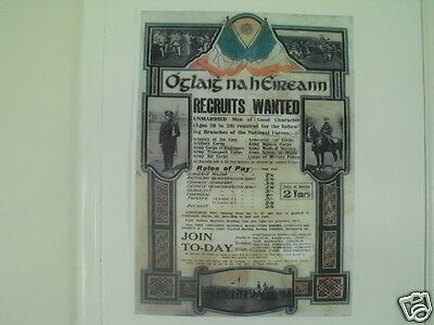 Irish Republican Army Rates Of Pay Poster Full Colour Collectors Item