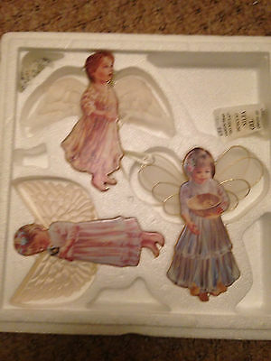 Beautiful Set Of 3 Heaven's Little Angels Christmas Hanging Decorations # 8