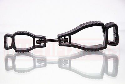 3pcs - Black Glove Safety Clip, Also suitable for Hats, Glasses etc...