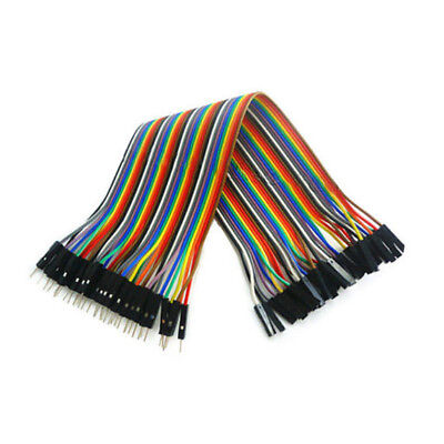 40pcs 1pin 20cm 2.54mm Male to Female jumper wire Dupont cable for Arduino