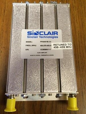 Sinclair Technologies UHF receiver filter