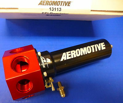 Aeromotive 13113 Fuel Pressure Regulator EFI Bypass 40-100 Adjustable Belt Hex