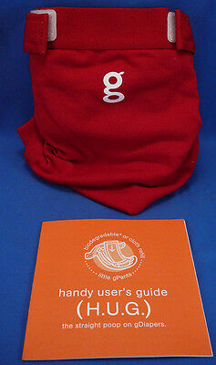 gDiapers,g/diapers Pants Size Small - Good Fortune  Red,NWT & Instructions