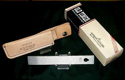 "Schrade Honesteel & Sheath ""Old Timer HS-1"" 1980's Pat. D-227.733 W/Packaging"