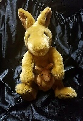 "Plush Kangaroo Mama & Joey 13"" Applause Lou Rankin"