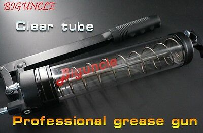 Biguncle Professional Grease Gun (clear tube) with 10000psi Model: BU-90