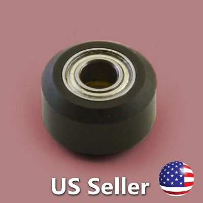 Small V Wheel Assembly, black acetal / delrin CNC Router 3D Printer