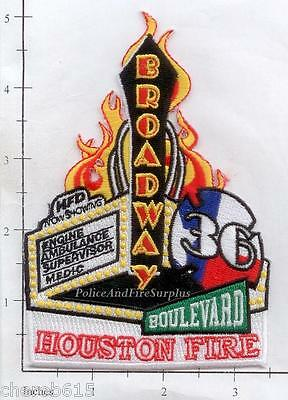 Texas - Houston Station 36 TX Fire Dept Patch v1 - Broadway Boulevard