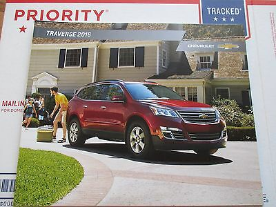 2016 16 Chevrolet Chevy Traverse Dealer Sales 28 Page Brochure Manual Catalog