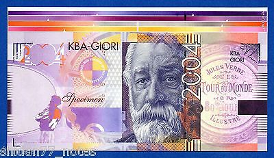 KBA Giori Jules Verne 2004 Upper Sheet Border Specimen Test Note Proof Unc