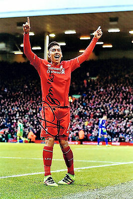 ROBERTO FIRMINO LIVERPOOL FC HAND SIGNED PHOTO AUTHENTIC GENUINE + COA - 12x8