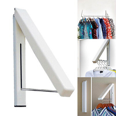 Stainless Folding Wall Hanger Mount Retractable Clothes Foldabel Hangers Rack