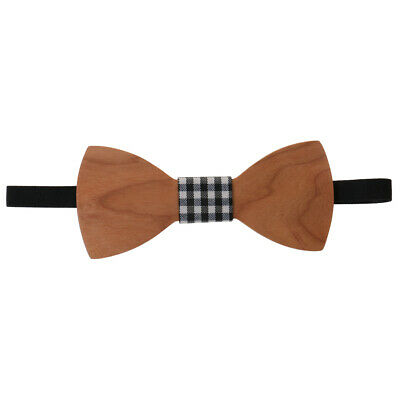 Men's Groom Wedding Party Wooden Bow Tie Tuxedo Suit Necktie Fashion Accessory