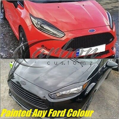 Ford Fiesta MK7 Facelift 2012+Headlight Eyebrows/Eyelids Painted Any Ford Colour