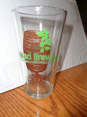 Naked Brewing Company - Pint Beer Glass - Barrel