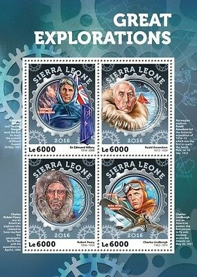 Z08 Imperforated SRL16402a SIERRA LEONE 2016 Great Exploration MNH
