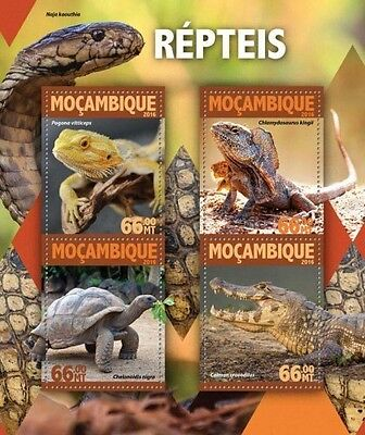 Z08 IMPERFORATED MOZ16120a MOZAMBIQUE 2016 Reptiles MNH