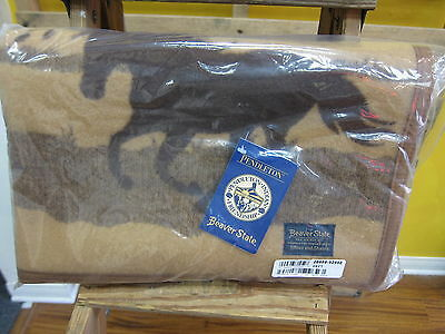 """Pendleton Wild Horses Jacquard Muchacho Baby Blanket 32""""x44""""  Made in USA!!"""