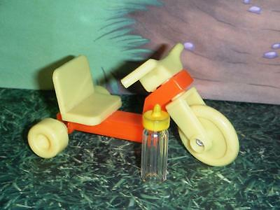 Miniature Tricycle & Bottle fits Fisher Price Loving Family Dollhouse Infants