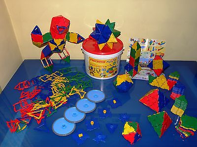 POLYDRON MIGHTY TUB 215 piece set educational construction toy