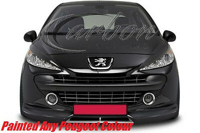 Peugeot 207 2006-2012 Headlight Eyebrows/Eyelids Painted Any Peugeot Colour