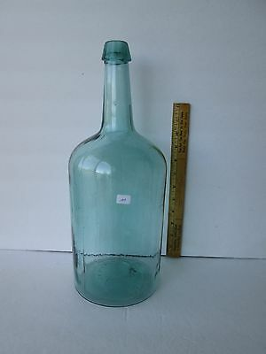 Antique Open Pontil Demi John Gallon Bottle