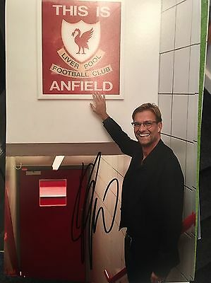 Signed Jurgen Klopp This Is Anfield Photo * See Him Sign * Proof Liverpool