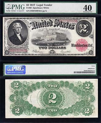 "Awesome HIGH GRADE $2 1917 ""BRACELET"" US Note! PMG 40! FREE SHIPPING! D69730943A"