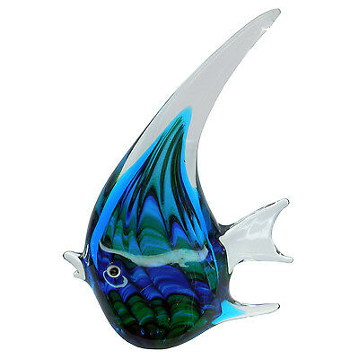 Hand Blown Blue Fish - Collectible Gift