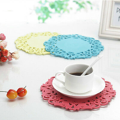 Silicone Cup Bowl Mat Table Non-Slip Heat insulation Potholder Tableware Pad