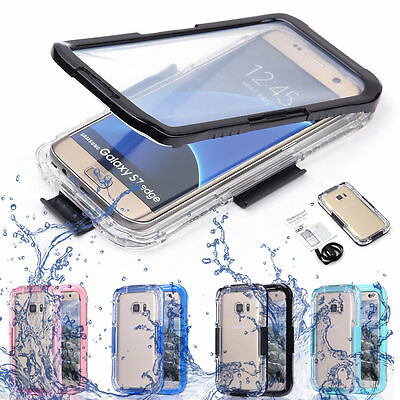 Swimming Waterproof Shockproof Phone Clear Case Cover For Samsung Galaxy S7 edge