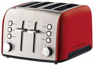 NEW Russell Hobbs Vogue Heritage 4 Slice Toaster RHT54RED
