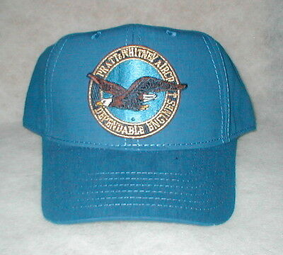 Hat With Pratt and Whitney Emblem On Front, Structured style Royal Blue hat