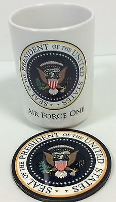 Air force One with Presidential Seal insignia 15oz Mug With coaster