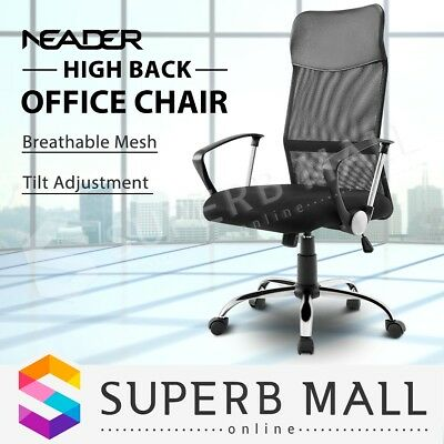 High Back Office Computer Chair Executive Breathable Mesh Work Armchair Black