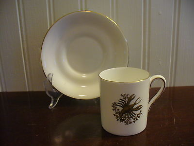 Tuscan Fine English Bone China Demitasse Cancer Zodiac Motif Cup & Saucer