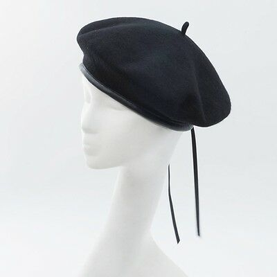 GI US Army Black Wool Beret Genuine Issue Military Beret With //Without Flash