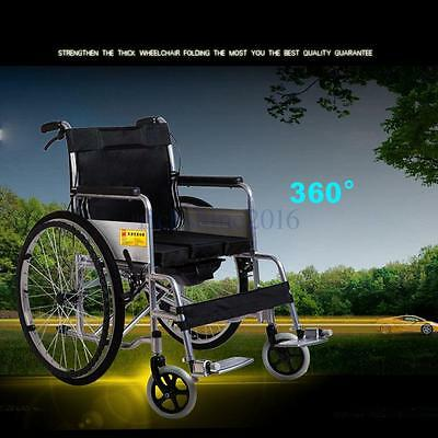Folding Footrest Self Propelled Lightweight Dual Brake Wheelchairs Solid Tire UK