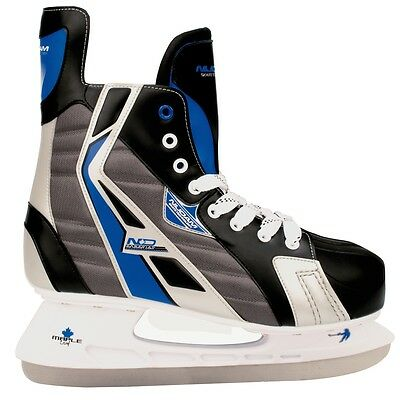 Nijdam Ice Hockey Skates Boots Shoes Unisex Blades Sharpened Size 46 3386-ZBZ-46
