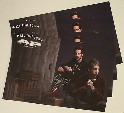 All Time Low Alex and Jack REAL hand SIGNED 11x17 Alt Press poster + Magazine