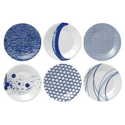 NEW Royal Doulton Pacific Cocktail Plate Set 6pce