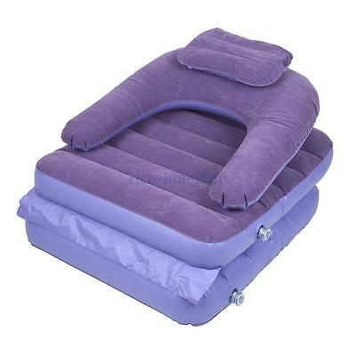 Inflatable Pull-Out Lounger Sofa Couch Full Single Air Bed Mattress Sleeper UK