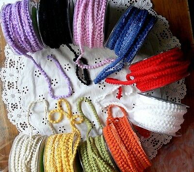 Mini 3mm PomPom Braid - 11 Colours 3 Metres & Mixed Packs May Arts Choice BR