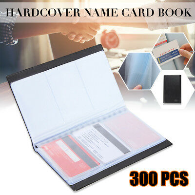 300 Slot Leather Business Name ID Credit Card Holder Book Case Keeper Organizer