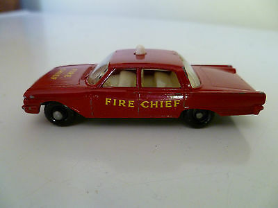 MATCHBOX LESNEY #59b FORD FAIRLANE FIRE CHIEF unboxed