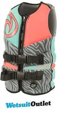 2017 Rip Curl Ladies Flashbomb PFD3 Wake Vest PINK WKE4AW
