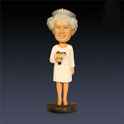 Queen Elizabeth II Royalty Resin Head Bobblehead Doll Elegant Collection Gift