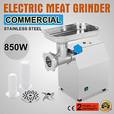 Stainless Steel Electric Meat Grinder Stuffer Filler Heavy Duty Mincer Grinder